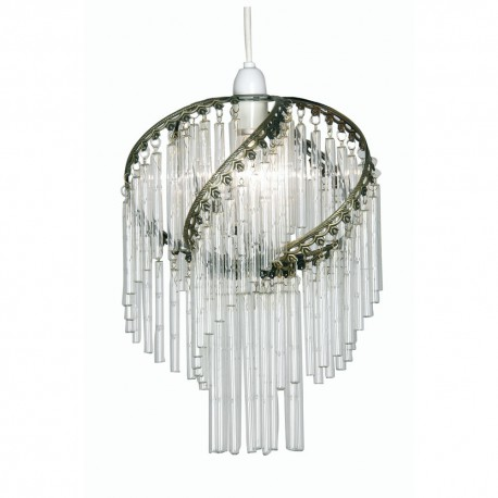 Dara Non-Electric Pendant With Glass Rods