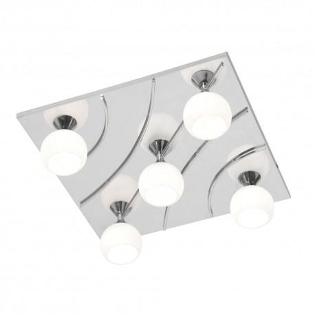 Manzano Chrome, Square With Bulbs