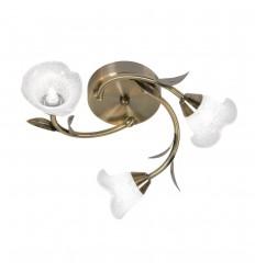 Carac Antique Brass Semi - Flush