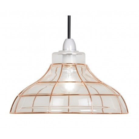 Elgg Glass And Copper Non Electric Pendant