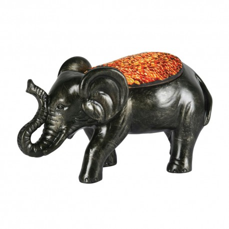 Elephant Mosaic Glass Table Lamp