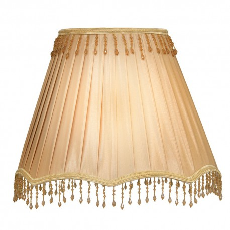 "18"" Box Pleat Shade With Bead"