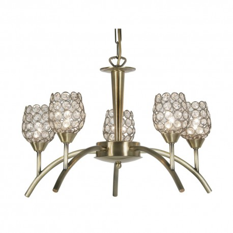 Koge Antique Brass 5 Light