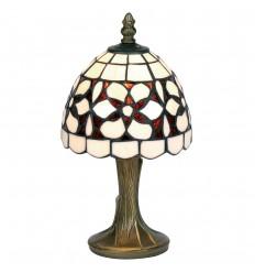 "Amber Flower Tiffany Table Lamp 6"""