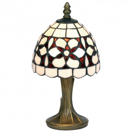Amber Flower Tiffany Table Lamp 6""