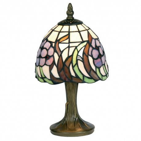 "Blue Flower 6"" Tiffany Table Lamp"