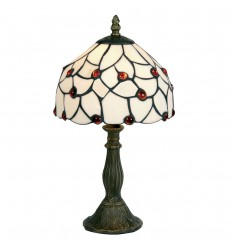 "Amber Beads 8"" Tiffany Table Lamp"