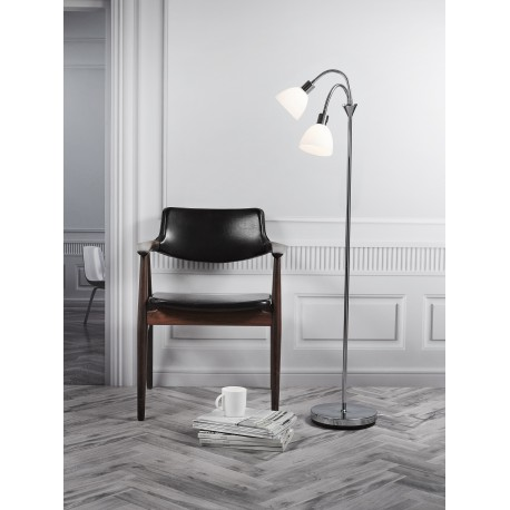 Ray Double Floor Lamp with Dimmer