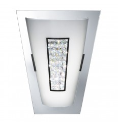 White Glass & Cyrstal LED Wall Light