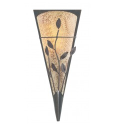 Brown Leaf Scavo Glass Wall Light