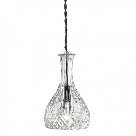 Rounded Decanter Cut Glass Pendant