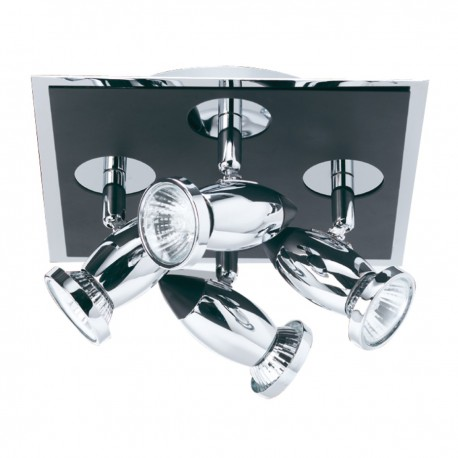Comet 4 Light Square Spot Matt Black Chrome