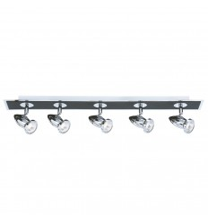 Comet 5 Light Bar Spot Matt Black Chrome