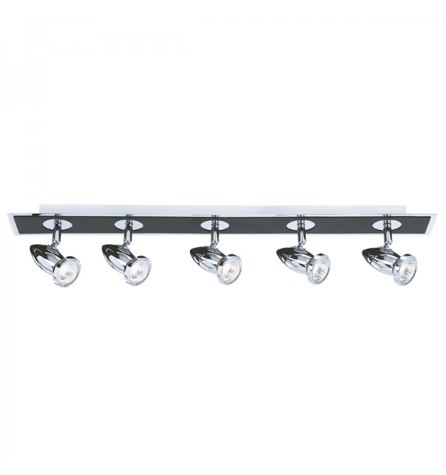 Chrome And Black Track Lighting: Comet 5 Light Bar Spot Matt Black Chrome