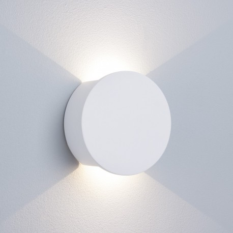 Gypsum 2W LED Round White Plaster Wall Light