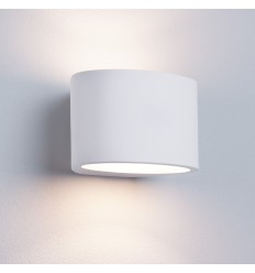 Gypsum G9 Oval White Plaster Wall Light