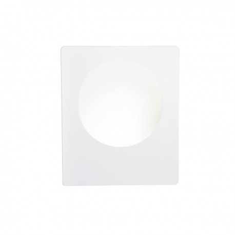 Gypsum 1W LED Square White Plaster Wall Light