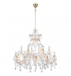 Marie Therese 18 Light Glass Crystal Chandelier