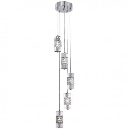 Sculptured Ice 5 Light Multidrop Pendant