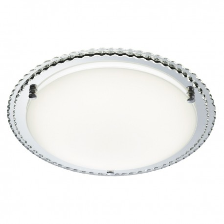 Ridged Mirror Halo 24LED Ceiling Fitting 31cm