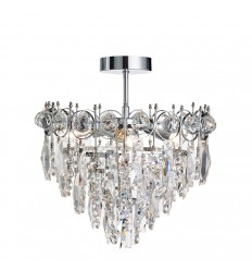 Catherine 3 Light Tiered Crystal Ceiling Fitting