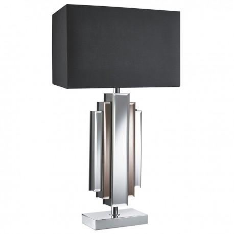 Mirror Table Lamp Column , Black Rectangle Shade