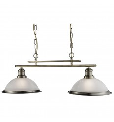 Bistro 2 Light Industrial Ceiling Bar Pendant