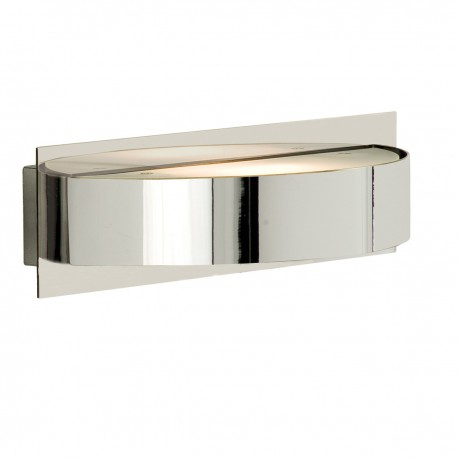 Half Circle Wall Lights : Wall Light 1 Light Chrome/Glass Half Circle - Hegarty Lighting Ltd.