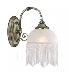 Victoriana 1 Light Antique Brass/Beaded Glass