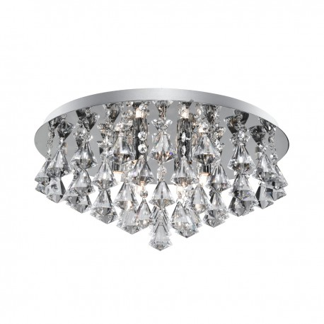 Hanna 6 Bulb Chrome Crystal Fitting - G9