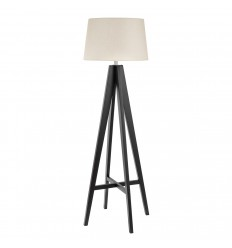 Tripod Dark Wood Floor Lamp