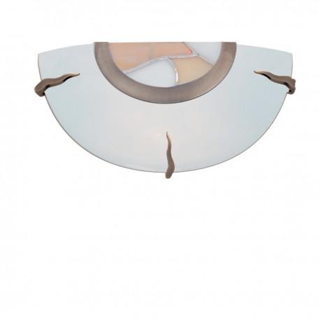 Tiffany Glass Flush Wall Bracket Dish - Amber Decro