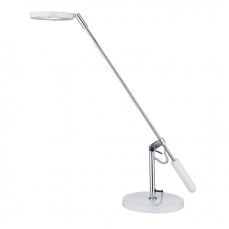 LED Partners Table Lamp White & Chrome 5W Round Shade