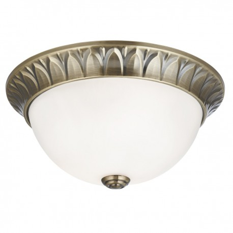 Ridged 2 Light Ceiling Fitting 28cm