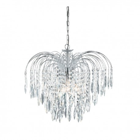 Waterfall 5 Light Crystal Chandelier