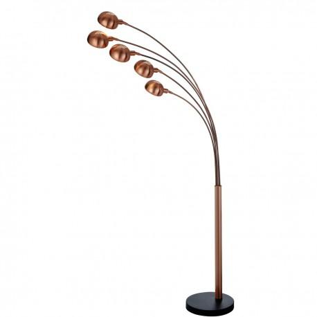 Giraffe 5 Light Floor Lamp, Sand Copper, Black Marble Base