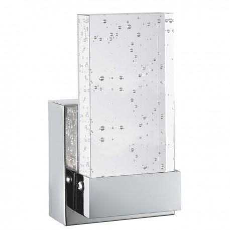 LED Bathroom Wall Bracket, Chrome, Clear Bubble Glass
