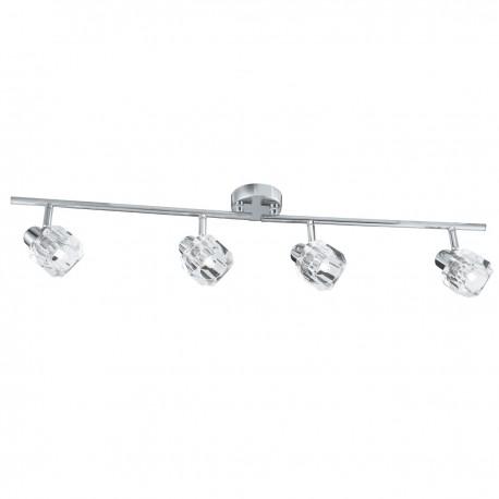 Triton 4 Light Bar Spot Chrome/Clear Glass Shade G9
