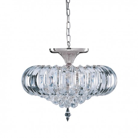 Sigma 5 Bulb Chrome Acrylic Flush Fitting