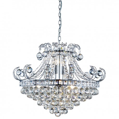Bloomsbury 6 Light Crystal Chandelier