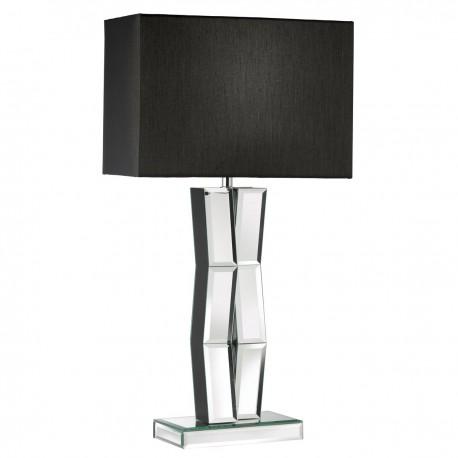 Mirror Finish on Black Wood Table Lamp