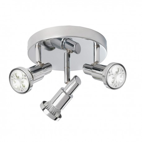 Torch - 3 Light LED Chrome Spot Round