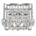 Hanna 2 Light Chrome Square Wall Bracket - Clear Crystal Ball