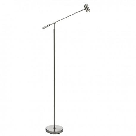 Adjustable LED Partners - Floor Lamp Satin Nickel