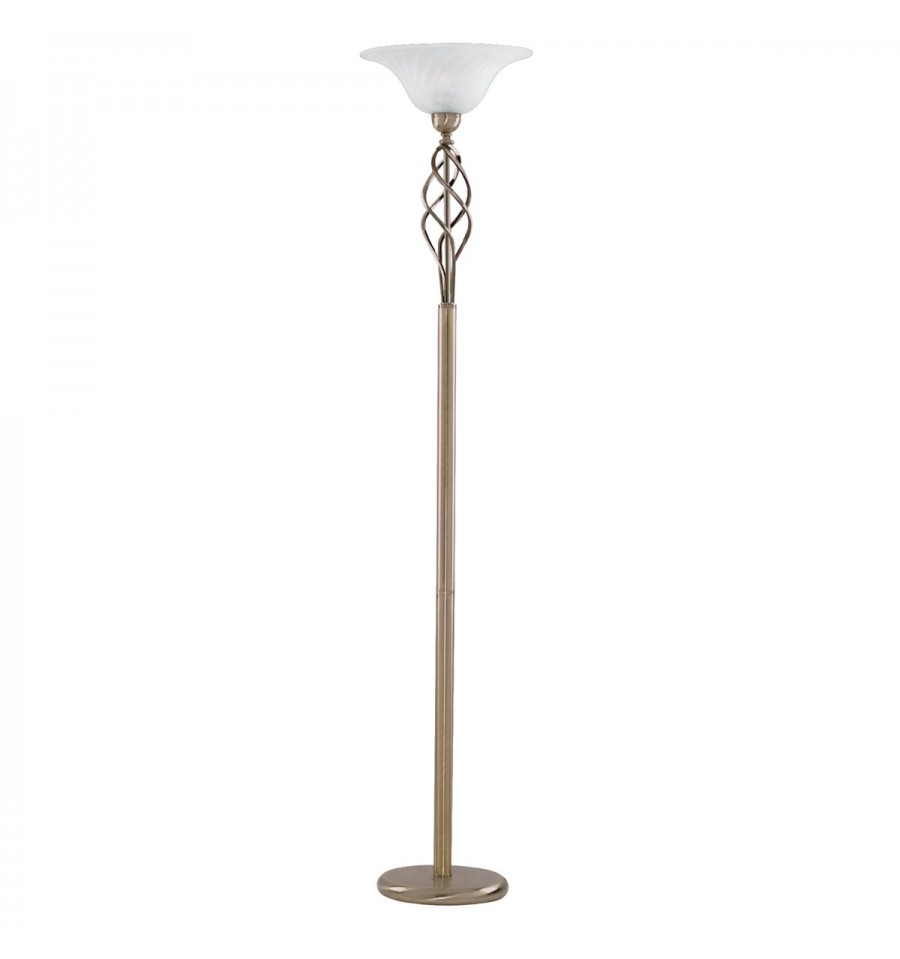 Uplighter floor lamp antique brass complete with marble for Floor uplighters
