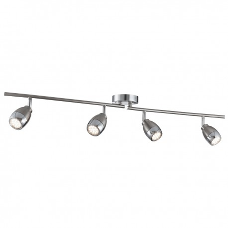 Spotlight 4 Light LED Split Bar, Satin Silver & Chrome