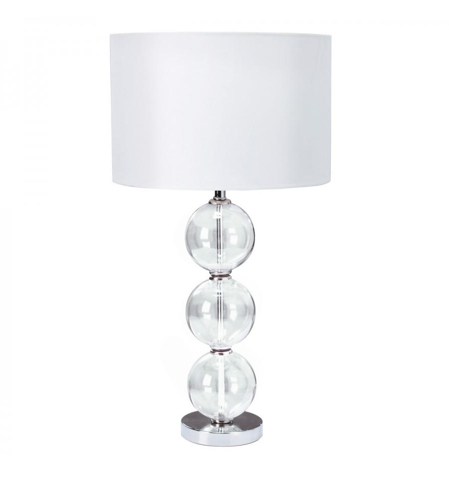 Clear Glass Stacked Ball Table Lamp Hegarty Lighting Ltd