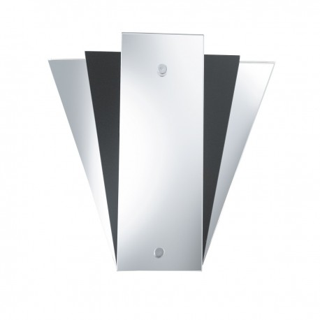 Wall Mirror Light - Deco Fan Style Black