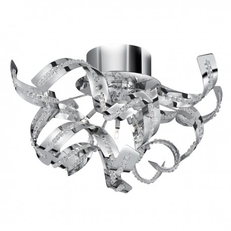 Sparkles 5 Light Chrome Semi Flush Fitting