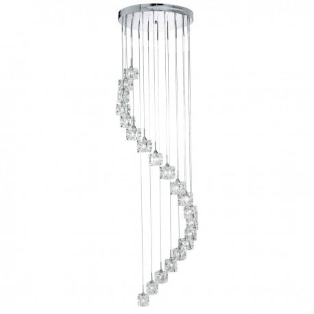 Sculptured Ice 20 Light Multidrop Pendant